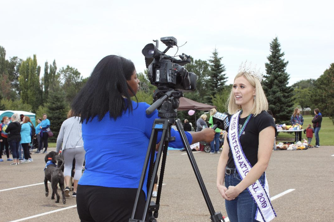I was a guest speaker at the Bismarck Out of the Darkness walk for AFSP. While I was there I did an interview with a local news station and scattered hearts.
