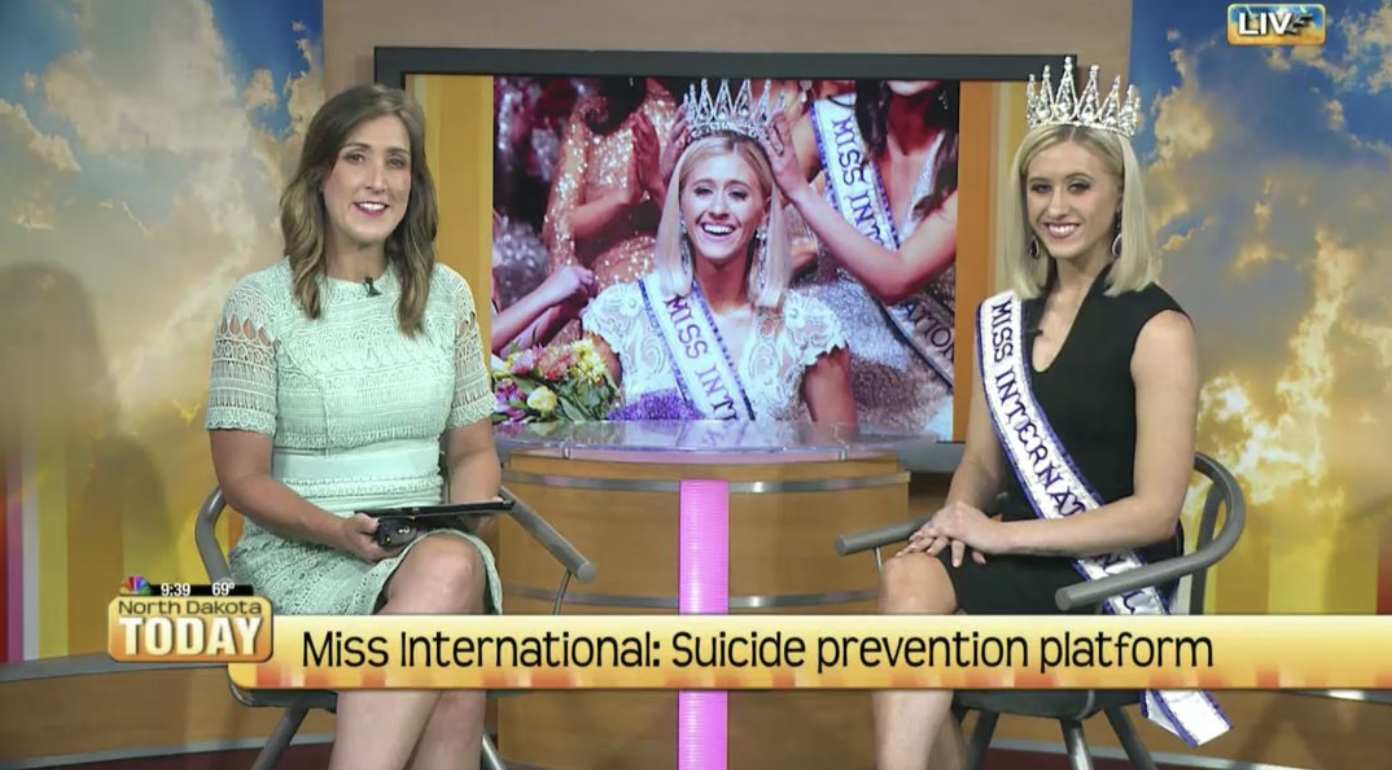 North Dakota Today Interview where I discussed what my plans are for my year as Miss International and The Peyton Heart Project.