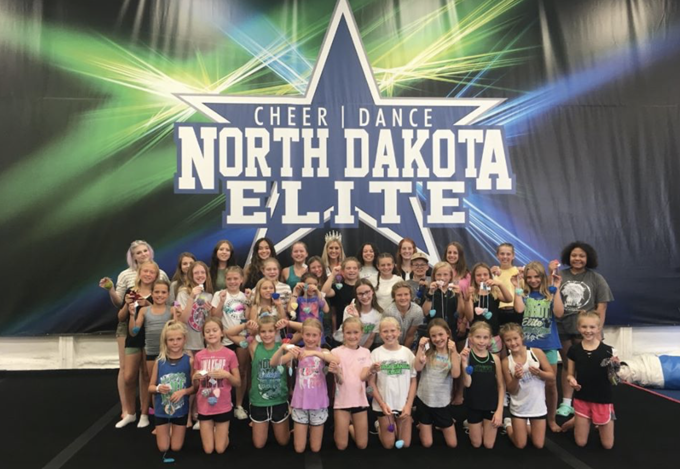 Hosting a heart making event with the North Dakota Elite Cheer Team.