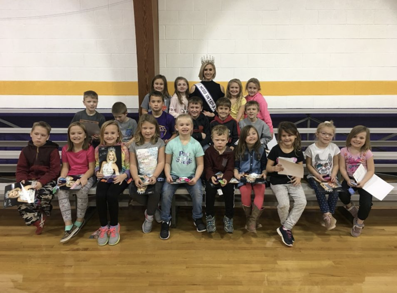 Presenting Hearts for Hope to Kulm Pubic School grades k-12. I spent the whole day sharing the mission of The Peyton Heart Project and making hearts.