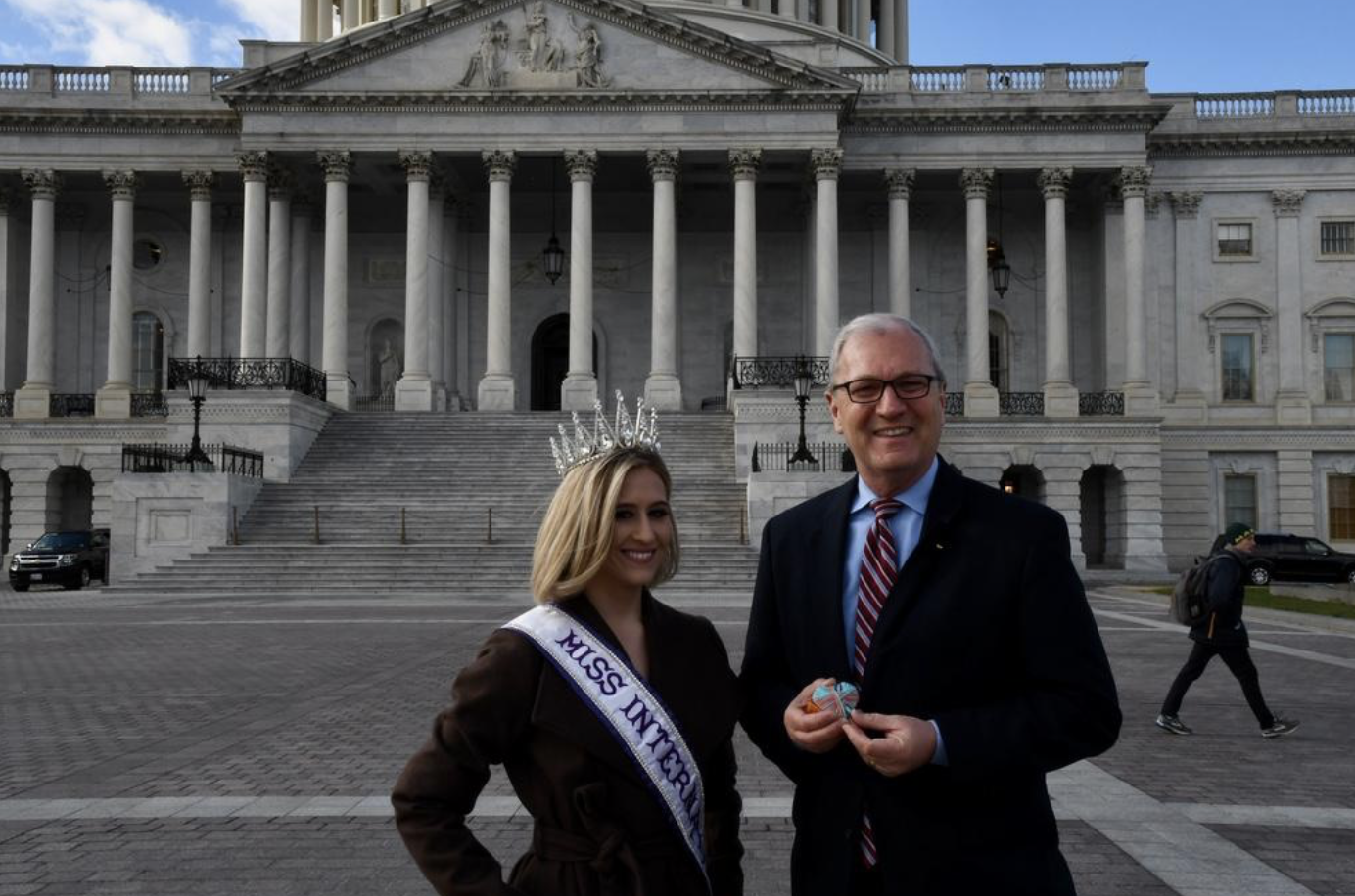 In December, I met with Senator Kevin Cramer to discuss my year as Miss International and what I do as an Ambassador for The Peyton Heart Project.